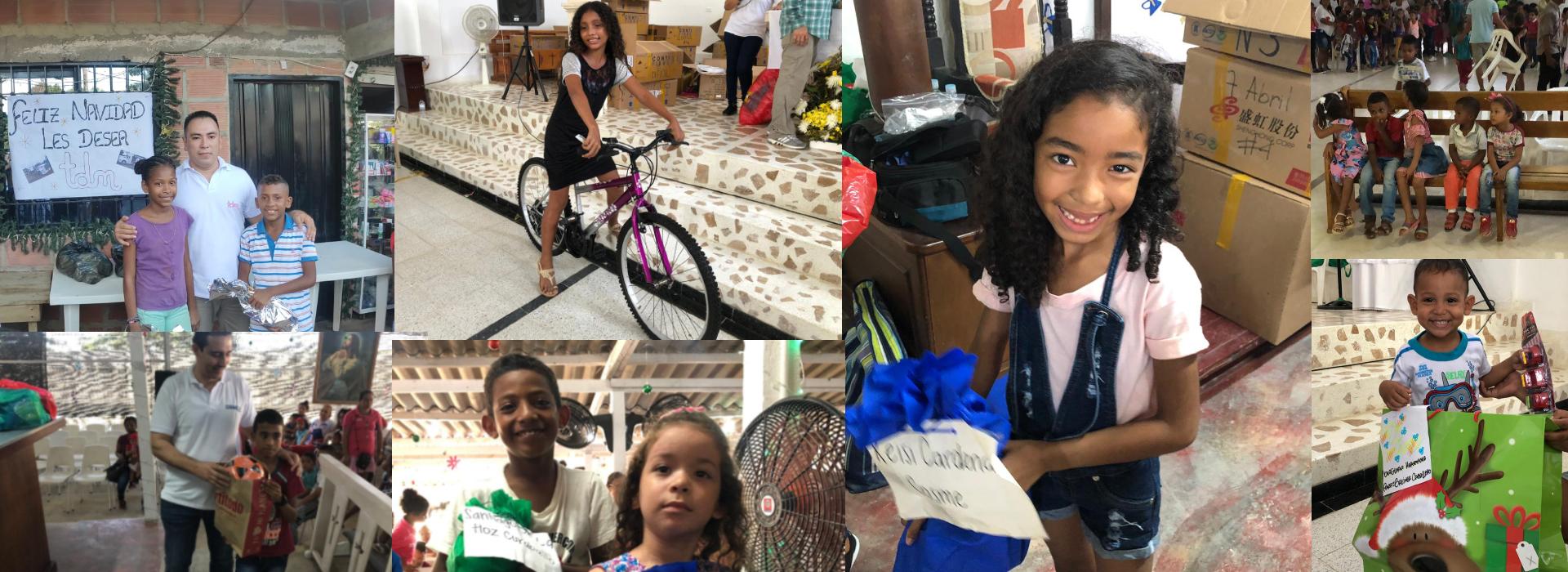 Entregamos más de 600 regalos a niños del Magdalena y Cesar.